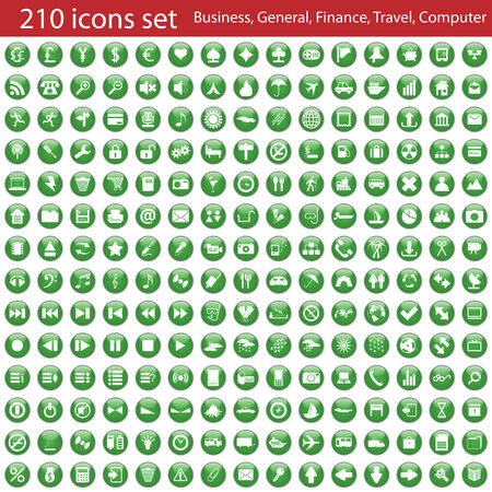 Biggest collection of different icons for using in web design Stock Vector - 5560056