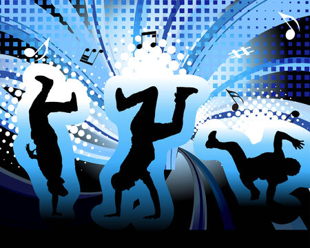Dancer theme. Vector illustration for design use. Stock Vector - 5560049