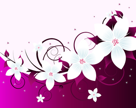 Floral background for design use. Vector illustration. Stock Vector - 5603134