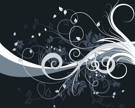 Floral background for design use. Vector illustration. Stock Vector - 5603124
