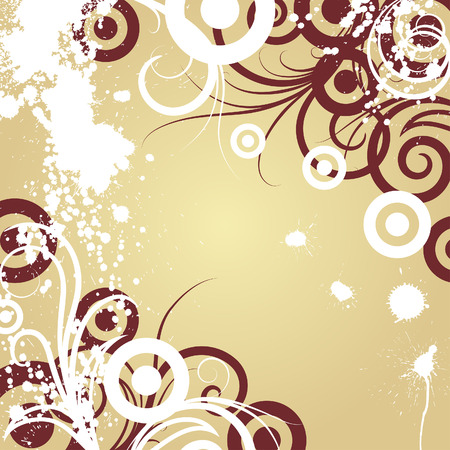 Floral background for design use. Vector illustration. Vector