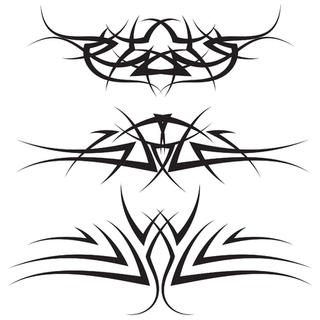 Patterns of tribal tattoo for design use Stock Vector - 5603111
