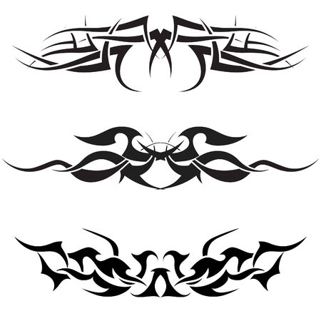 Patterns of tribal tattoo for design use Stock Vector - 5603113
