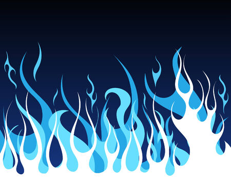 Inferno fire vector background for design use Stock Vector - 5603118