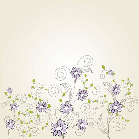 scrool: Floral background for design use. Vector illustration. Illustration
