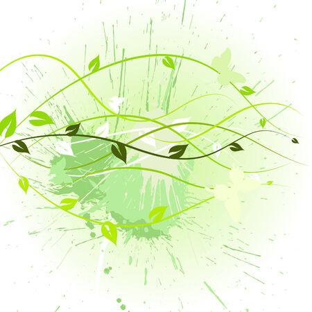 Floral background for design use. Vector illustration. Vector