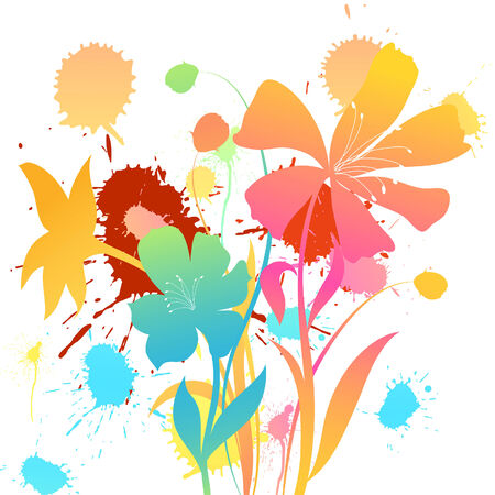 floral vector: Floral background for design use. Vector illustration. Illustration