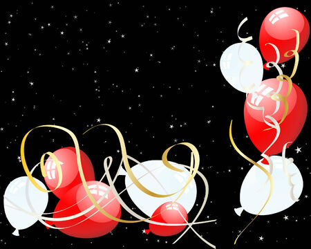 Beautiful balloons in the air. Vector illustration. Vector