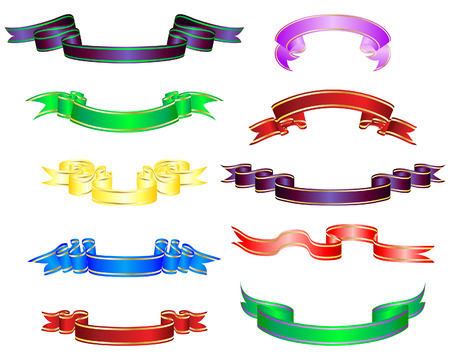 Set of different vector ribbons on white background Stock Vector - 5603143