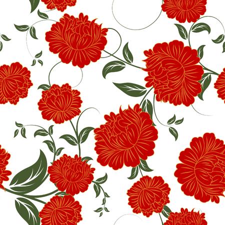 Seamless vector background floral. Para facilitar la toma de patrón sin apenas arrastran todo el grupo en muestras de bar, y utilizarla para rellenar los contornos.