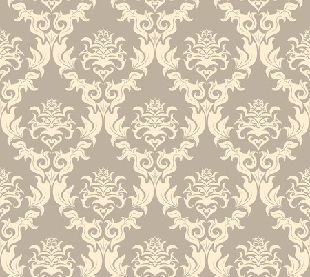 damask seamless: Damask seamless vector background.  For easy making seamless pattern just drag all group into swatches bar, and use it for filling any contours. Illustration