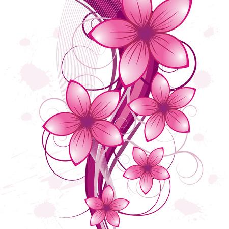 flower banner: Floral background for design use. Vector illustration. Illustration