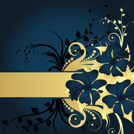 Floral background for design use. Vector illustration. Illustration