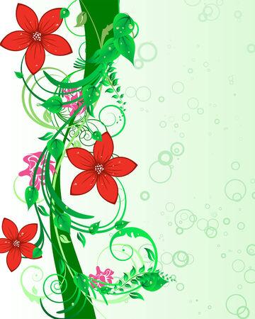 Fondo floral para uso de diseño. Ilustración vectorial.