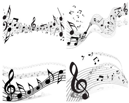 Vector musical notes staff background for design use Stock Vector - 5633114