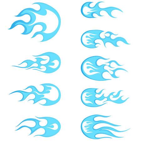 demon: Zestaw fireballs różne desenie dla wykorzystania projektowania