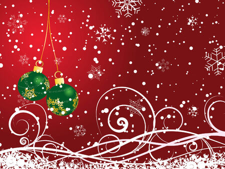 Beautiful vector Christmas (New Year) background for design use Stock Vector - 5634739
