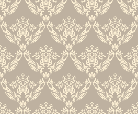 Damask seamless vector background.  For easy making seamless pattern just drag all group into swatches bar, and use it for filling any contours. Stock Vector - 5634727