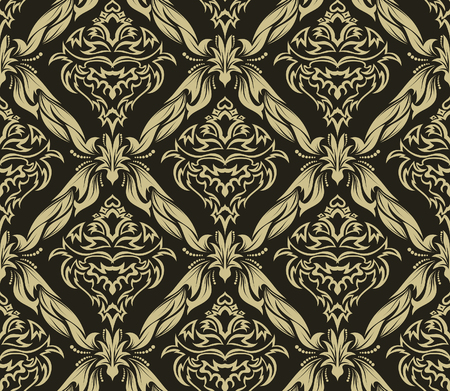weaves: Damask seamless vector background.  For easy making seamless pattern just drag all group into swatches bar, and use it for filling any contours. Illustration