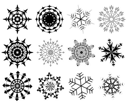 biggest: Biggest collection of vector snowflakes in different shape