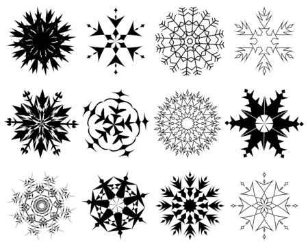 Biggest collection of vector snowflakes in different shape Stock Vector - 5634747