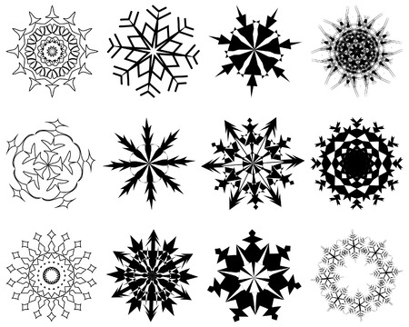 Biggest collection of vector snowflakes in different shape Stock Vector - 5634767