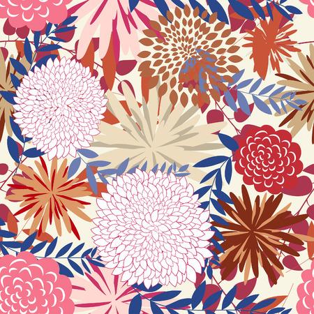 remplissage: Arri�re-plan floral de vecteur transparente. Simple motif transparente faisant juste faites glisser tous les groupe dans la barre de nuances et utilisez-le pour remplir les contours.