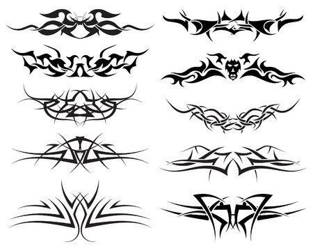Patterns of tribal tattoo for design use Stock Vector - 5657479
