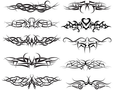 Patterns of tribal tattoo for design use Stock Vector - 5657488