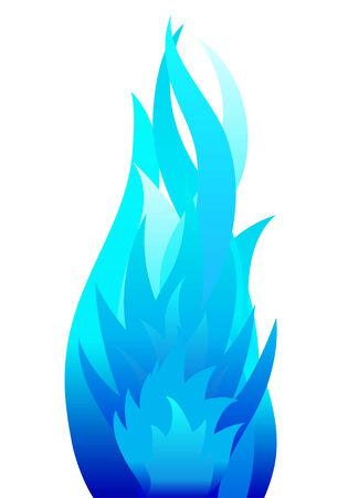 Inferno Feuer Vektor Hintergrund für die Design-Verwendung