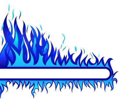 Inferno-Feuer-Vektor-Hintergrund für Design-Verwendung