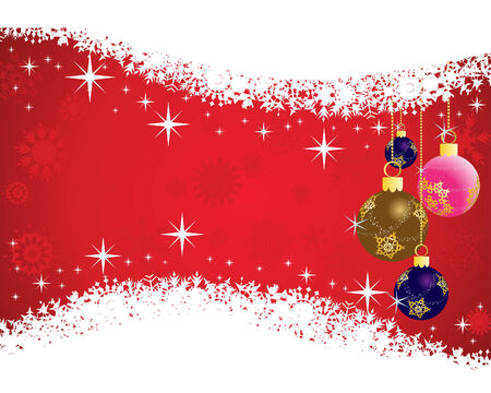 Beautiful vector Christmas (New Year) background for design use Stock Vector - 5669438