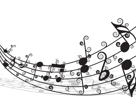 Vector musical notes staff background for design use Stock Vector - 5686061