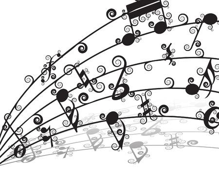 Vecteur fond musical personnel de rel? pour utiliser la conception