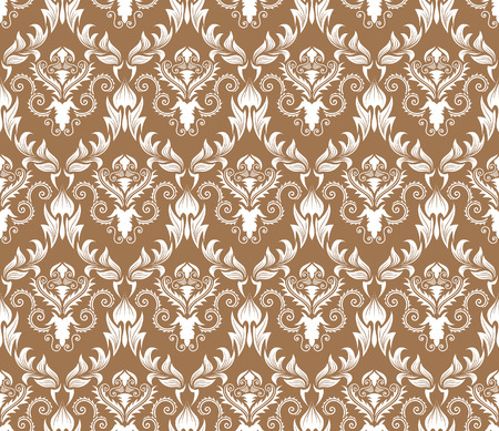 Damask seamless vector background.  For easy making seamless pattern just drag all group into swatches bar, and use it for filling any contours. Stock Vector - 5686086