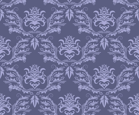 Damask seamless vector background.  For easy making seamless pattern just drag all group into swatches bar, and use it for filling any contours. Stock Vector - 5686076