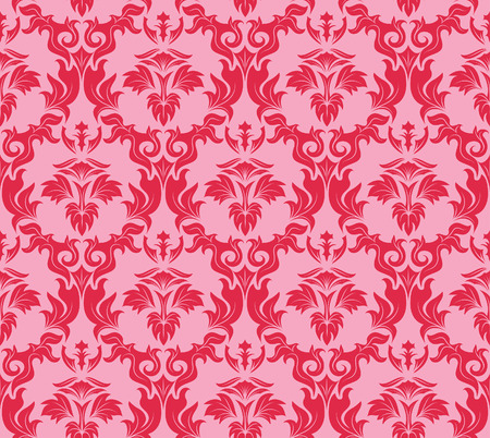 Damask seamless vector background.  For easy making seamless pattern just drag all group into swatches bar, and use it for filling any contours. Stock Vector - 5686064