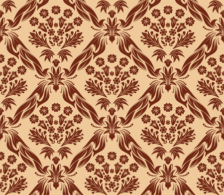 Damask seamless vector background.  For easy making seamless pattern just drag all group into swatches bar, and use it for filling any contours. Stock Vector - 5686075