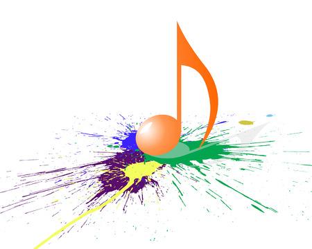 Vector musical toma nota de antecedentes de personal para el uso de diseño