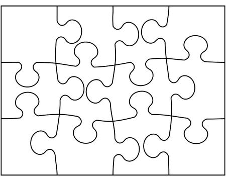 dificuldade: Ilustra��o do vetor do enigma mosaico fundo Ilustra��o