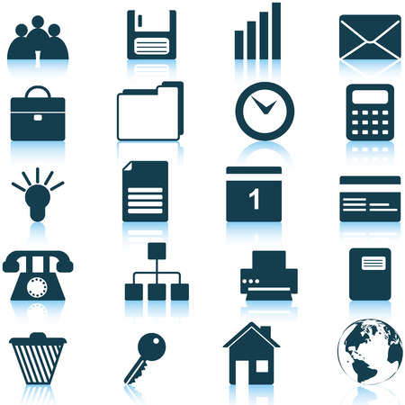 Business and office set of different vector web icons Stock Vector - 5707867