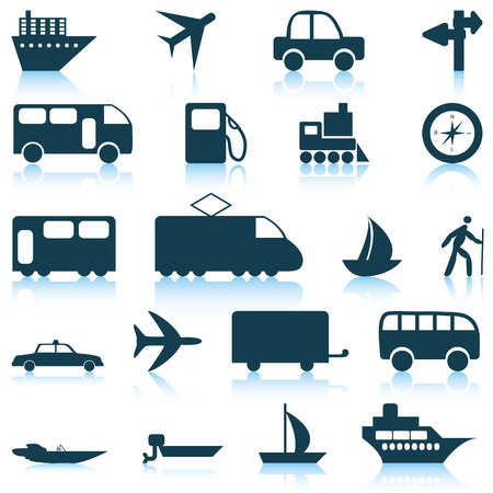 Transportation set of different vector web icons Stock Vector - 5707865