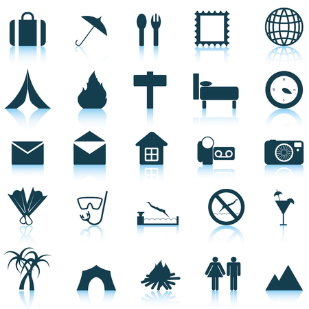 Travel set of different vector web icons Stock Vector - 5707868