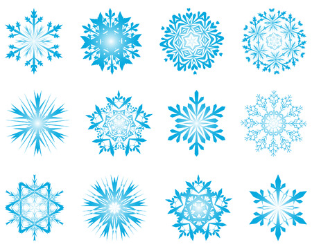 Biggest collection of vector snowflakes in different shape Stock Vector - 5716847