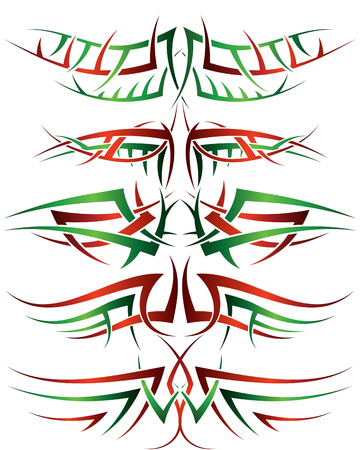 Patterns of tribal tattoo for design use Stock Vector - 5716766