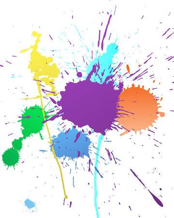 splash color: Vector background Abstract grunge per usare il disegno.