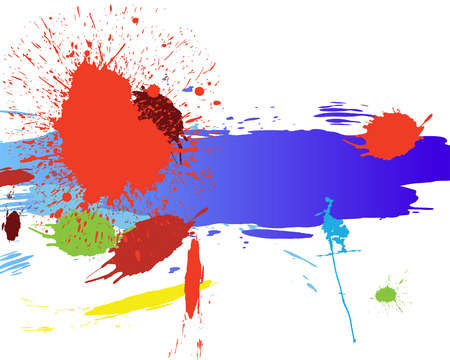 inkblots: Abstract grunge vector background for design use.