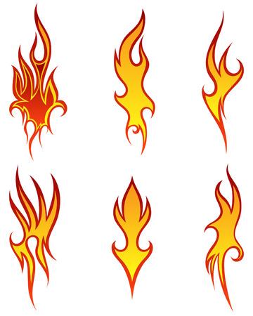 디자인을위한 다른 화재 패턴의 집합 사용