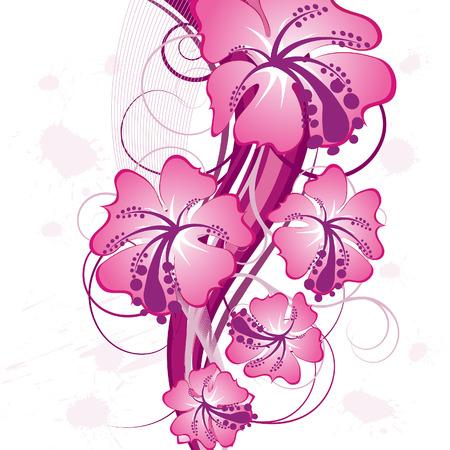 Floralen Hintergrund für die Design-Verwendung. Vektor-Illustration.