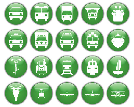 Transportation set of different vector web icons Stock Vector - 5735244